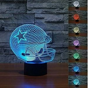New 3D Cowboys color changing lamp